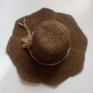 Crochet wide brim floppy sunhat